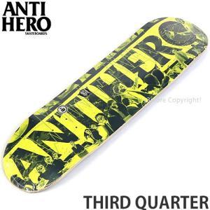 アンタイヒーロー サード クォーター ANTIHERO THIRD QUARTER スケートボード スケボー デッキ 板 ストリート パーク サイズ:8.5 x 32.18|s3store