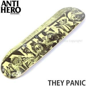 アンタイヒーロー ゼイ パニック ANTIHERO THEY PANIC スケートボード スケボー デッキ 板 ストリート パーク サイズ:8.06 x 31.8|s3store
