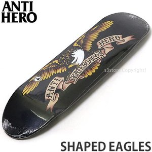 アンタイヒーロー ANTIHERO SHAPED EAGLES スケートボード スケボー デッキ 板 ストリート パーク カラー:Black Widow サイズ:8.5x31.7|s3store