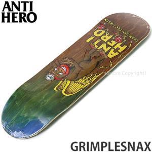 アンタイヒーロー ANTIHERO GRIMPLESNAX スケートボード スケボー デッキ 板 シグネチャー ストリート カラー:Daan サイズ:8.06 x 31.8|s3store
