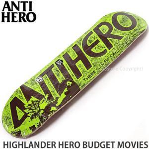 アンタイヒーロー ANTIHERO HIGHLANDER HERO BUDGET MOVIES スケートボード スケボー デッキ ストリート Col:Yellow Size:7.75x31.25|s3store