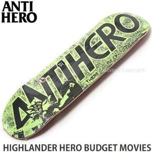 アンタイヒーロー ANTIHERO HIGHLANDER HERO BUDGET MOVIES スケートボード スケボー デッキ ストリート カラー:Green Size:8.06x31.8|s3store