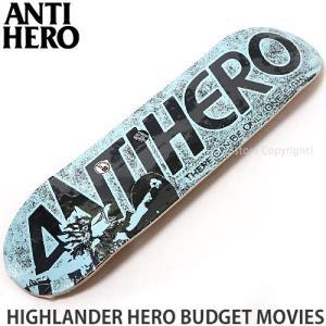 アンタイヒーロー ANTIHERO HIGHLANDER HERO BUDGET MOVIES スケートボード スケボー デッキ ストリート カラー:Blue サイズ:8.25 x 32|s3store