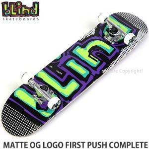 ブラインド コンプリート BLIND MATTE OG LOGO FIRST PUSH COMPLETE スケートボード スケボー カラー:Green/Purple サイズ:7.75x31.2|s3store
