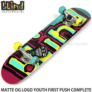 ブラインド コンプリート BLIND MATTE OG LOGO YOUTH FIRST PUSH CPL スケートボード 初心者 子供 カラー:Yel/Grn サイズ:7.0 x 29.2|s3store