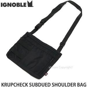 イグノーブル ショルダー バッグ IGNOBLE KRUPCHECK SUBDUED SHOULDER BAG かばん アメリカ製 カラー:BLACK サイズ:W27xH22xD2cm|s3store