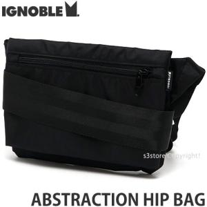 イグノーブル アブストゥラクション ヒップ バッグ IGNOBLE ABSTRACTION HIP BAG かばん アメリカ製 カラー:BLACK サイズ:W22.5xH17cm|s3store