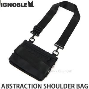 イグノーブル ショルダー バッグ IGNOBLE ABSTRACTION SHOULDER BAG かばん 鞄 ビジネス アメリカ製 カラー:BLACK サイズ:W23xH17cm|s3store