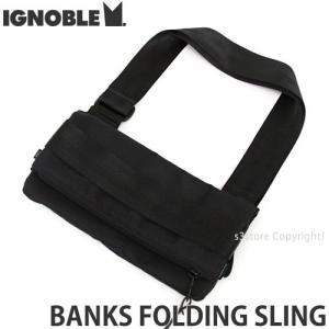 イグノーブル バンク ホールディング スリング ignoble BANKS FOLDING SLING メンズ ショルダー 肩掛け かばん 高品質 カラー:Black|s3store