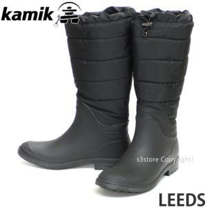 カミック リーズ KAMIK LEEDS レディース ウィメンズ レイン ブーツ 長靴 シューズ ウィンター 防水 防滑 防寒 アウトドア WINTER BOOT カラー:ブラック|s3store