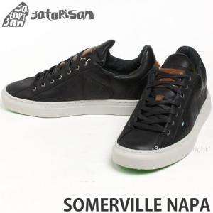 サトリサン サマービル ナパ SATORISAN SOMERVILLE NAPA スニーカー メンズ インソール ローカット レザー スペイン レトロ シューズ カラー:BLACK|s3store