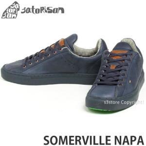 サトリサン サマービル ナパ SATORISAN SOMERVILLE NAPA スニーカー メンズ インソール ローカット レザー スペイン レトロ シューズ カラー:MOOD BLUE|s3store