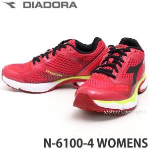 ディアドラ N-6100-4 ウィメンズ diadora N-6100-4 WOMENS レディース ランニング ジョギング マラソン Italia カラー:レッド/ブラック|s3store