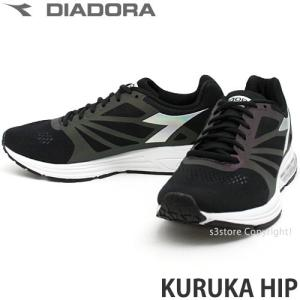 ディアドラ クルカ ヒップ diadora KURUKA HIP メンズ スニーカー ランニング ジョギング マラソン イタリア カラー:ブラック/ブラック|s3store