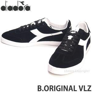 ディアドラ diadora B.ORIGINAL VLZ スニーカー シューズ 復刻 テニス Bjorn Borg ビョルン・ボルグ シグネチャー Color:ブラック/ホワイト|s3store
