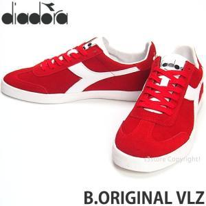 ディアドラ diadora B.ORIGINAL VLZ スニーカー シューズ 復刻 テニス Bjorn Borg ビョルン・ボルグ シグネチャー Color:レッド/ホワイト|s3store