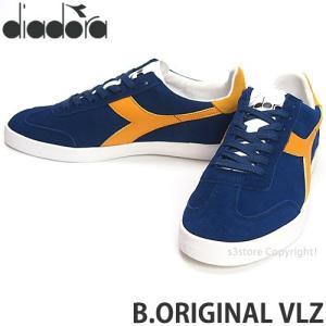 ディアドラ diadora B.ORIGINAL VLZ スニーカー シューズ 復刻 テニス Bjorn Borg ビョルン・ボルグ シグネチャー Color:ブルー/ゴールド|s3store