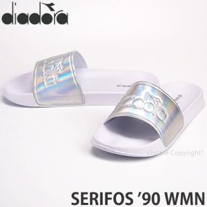 ディアドラ セリフォス 90 ウィメンズ diadora SERIFOS '90 WMN サンダル レディース スリッパ シャワー アウトドア カラー:White/Silver|s3store