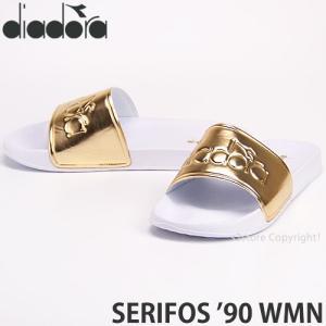 ディアドラ セリフォス 90 ウィメンズ diadora SERIFOS '90 WMN サンダル レディース スリッパ シャワー アウトドア カラー:White/Gold|s3store