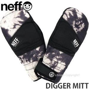 19 ネフ ディガー ミット NEFF DIGGER MITT 18-19 スノーボード スキー グローブ ミトン メンズ SNOWBOARD GLOVE MENS Col:BLACK BLEACH|s3store