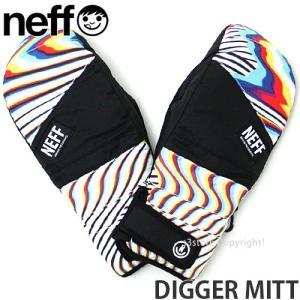 18model ネフ ディガー ミット Neff DIGGER MITT 17-18 スノーボード スキー グローブ ミトン メンズ SNOWBOARD GLOVE MENS カラー:Glitch|s3store