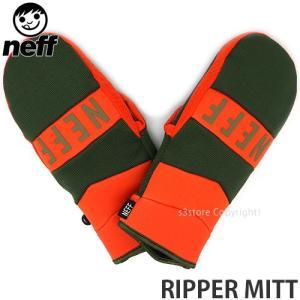 ネフ リッパー ミット NEFF RIPPER MITT 18-19 スノーボード スキー グローブ ミトン メンズ SNOWBOARD GLOVE MENS カラー:ORANGE/CAMO|s3store