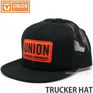 ユニオン トラッカー ハット UNION TRUCKER HAT メンズ レディース キャップ 帽子 野球帽 小物 SNOW カラー:BLACK サイズ:One size|s3store