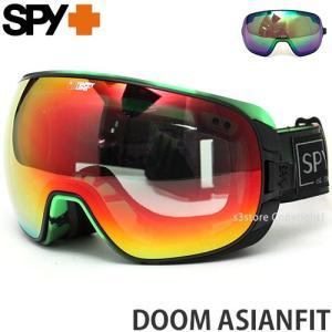 18 スパイ ドーム アジアンフィット SPY DOOM 国内正規品 17-18 スノーボード ゴーグル SNOWBOARD Frame:A.GREEN Lens:Happy L.Gray Green