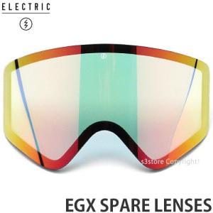 19md エレクトリック イージーエックス スペアレンズ ELECTRIC EGX SPARE 国内 交換用 スノーボード ゴーグル レンズ:GREY/RED CHROME JP|s3store