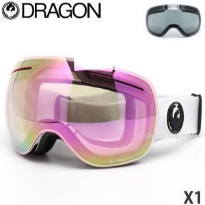 19mdl ドラゴン エックスワン DRAGON X1 ゴーグル スノーボード ルーマ ボーナスレンズ付 フレーム:White レンズカラー:LumaLens Pink Ion|s3store