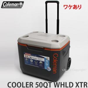 ワケあり コールマン 50QT エクストリーム 5 ウィール クーラー クーラーボックス COLEMAN 50QT XTREME WHEELED COOLER アウトドア カラー:DGRY/ORG/LGRY|s3store
