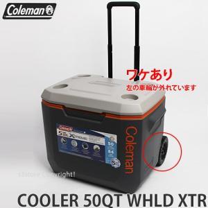 ワケあり コールマン クーラーボックス COLEMAN 50QT XTREME 5 WHEELED COOLER カラー:DARK GRAY/ORANGE/LIGHT GRAY サイズ:50QT|s3store