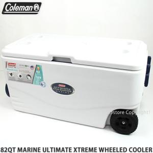コールマン 82 クウォートマリーン エクストリーム ウィールド クーラー 【Coleman 82QT MARINE XTREME WHEELED COOLER】アウトドア BBQ 海水浴 カラー:WHITE|s3store