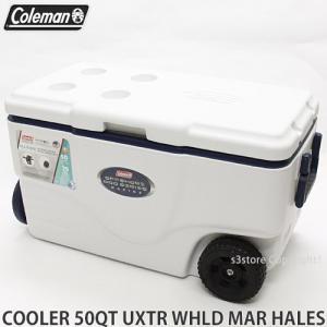 コールマン 50QT ウィール クーラー マリーン クーラーボックス COLEMAN 50QT XTREME 6 WHEELED COOLER MARINE アウトドア 海釣り カラー:WHITE|s3store