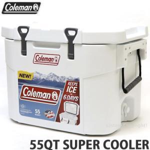 コールマン 55QT COLEMAN SUPER COOLER クーラーボックス アウトドア まな板 グリップ キャンプ フェス BBQ カラー:WHITE サイズ:55QT|s3store