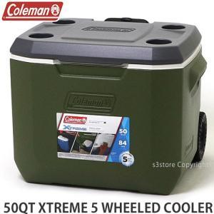 コールマン エクストリーム 5 ウィール クーラー COLEMAN 50QT XTREME 5 WHEELED COOLER アウトドア 保冷 カラー:OLIVE サイズ:50QT|s3store