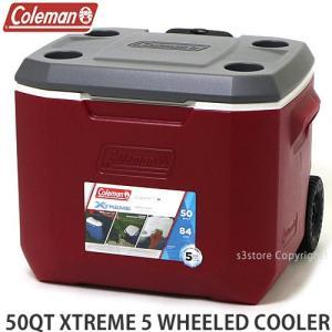 コールマン エクストリーム 5 ウィール クーラー COLEMAN 50QT XTREME 5 WHEELED COOLER アウトドア 保冷 カラー:MAHOGANY サイズ:50QT|s3store