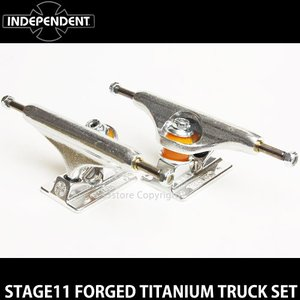 インディペンデント ステージ11 フォージド チタニウム トラック セット INDEPENDENT STAGE11 FORGED TITANIUM TRUCK SET カラー:Silver サイズ:139Std|s3store