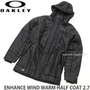 オークリー エンハンス ウィンド ウォーム ハーフ コート 2.7 OAKLEY ENHANCE WIND WARM HALF COAT 2.7 メンズ カラー:Jet Black s3store