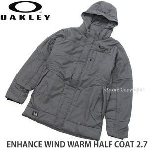 オークリー エンハンス ウィンド ウォーム ハーフ コート 2.7 OAKLEY ENHANCE WIND WARM HALF COAT 2.7 メンズ カラー:D Heather Grey s3store