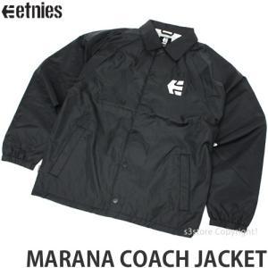 エトニーズ マラナ コーチジャケット ETNIES MARANA COACH JACKET スケートボード SKATE ウィンドブレーカー コーデ ストリート カラー:BLK s3store