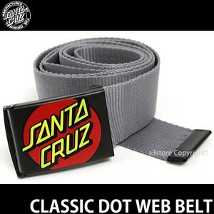 サンタクルーズ クラシック ドット ウェブ ベルト 【SANTACRUZ CLASSIC DOT WEB BELT】 サーフィン スケート ガチャ 栓抜き color:Charcoal|s3store