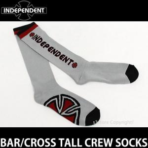 インディペンデント バー/クロス トール クルー ソックス 【INDEPENDENT BAR/CROSS TALL CREW SOCKS】 靴下 カラー:Ht Grey SIZE:US9-11|s3store