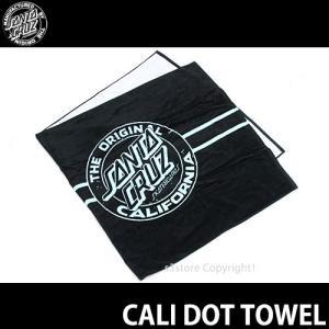 サンタクルーズ カリ ドット タオル SANTACRUZ CALI DOT TOWEL スケート サーフ アパレル スポーツ マリン 海 フェス カラー:Black|s3store