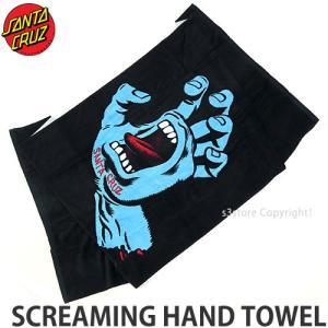 サンタクルーズ スクリーミング ハンド タオル SANTA CRUZ SCREAMING HAND TOWEL サーフ ビーチ バス SKATE カラー:BLACK サイズ:OS|s3store