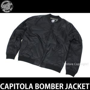 サンタクルーズ キャピトラ ボンバー ジャケット SANTACRUZ CAPITOLA BOMBER JACKET スケート サーフ 服 MA-1 ブルゾン コーデ カラ―:BLK s3store