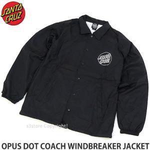 サンタクルーズ コーチジャケット SANTACRUZ OPUS DOT COACH WINDBREAKER JACKET スケートボード スケボー アウター トップス カラー:BLK|s3store