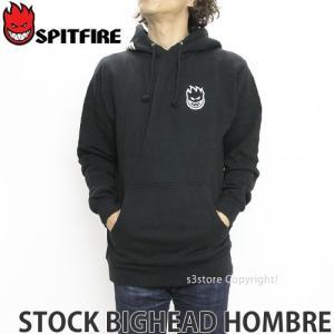 スピットファイヤー ストック ビッグヘッド オンブレ パーカー SPITFIRE STOCK BIGHEAD HOMBRE スケートボード SKATE カラー:BLACK s3store