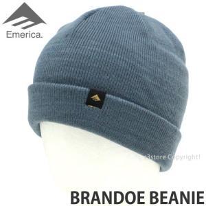 エメリカ ブランド ビーニー Emerica BRANDOE BEANIE スケートボード SKATEBOARD ニット ワッチ 2つ折り 帽子 コーディネート Color:SLATE s3store