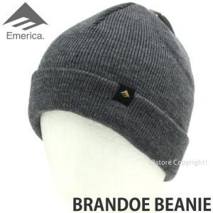 エメリカ ブランド ビーニー Emerica BRANDOE BEANIE スケートボード SKATEBOARD ニット ワッチ 2つ折り 帽子 コーディネート Color:GREY s3store